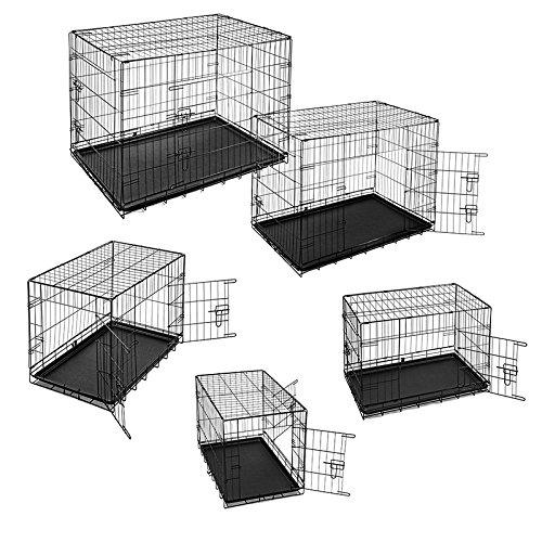 Estexo® Hunde-Transportbox, S - XXL, Auto Hundekäfig, Gitterbox, Hundebox Faltbar, Reisebox Auto Hundekäfig Reisebox (XL) 512469