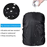 KIKAL Waterproof Backpack Rain Cover(2-Pack), 15-80L Lightweight Durable Elastic Adjustable Rucksack Water Resist Cover for Camping,Hiking,Climbing,Cycling and Other Outdoor Activities