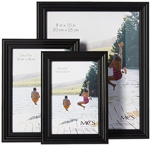 MCS 10pc Multi Pack Picture Frame Value Set - Two 8x10 in, Four 5x7 in, Four 4x6 in, Black (65508)