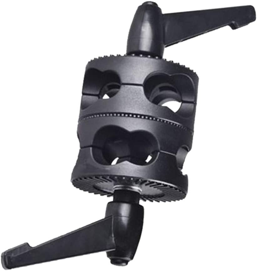 Grip Head Clamp Photo Studio Universal Multifunctional Adjustable LED Light Mount Photography Holder Accessories For Boom Bracket Arm Support Dual Swivel Angle