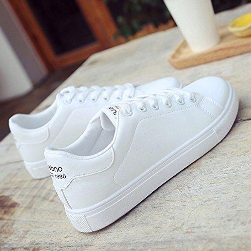 NGRDX&G Zapatos De Mujer Zapatos Deportivos Mujer Baratos Zapatos Casuales De Cuero Pu Encajes De Coser Zapatos Blancos De Mujeres: Amazon.es: Deportes y ...