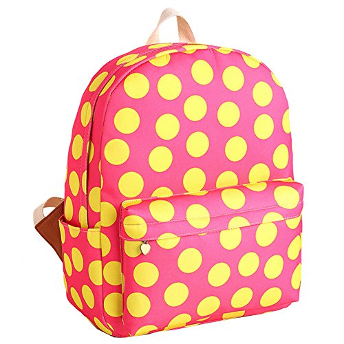 Bags Zrong Pink Girl's Polka Cute Backpack Teenagers for Women's School Dot 7F70qZw