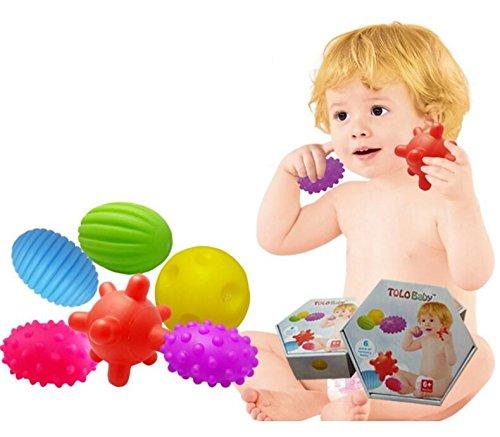 TOUYOUIOPNG Kinder Pädagogische Bunte Massage Sensorik Bälle Set Kinder Lustige Massage Ball Spielzeug Geschenk für Baby