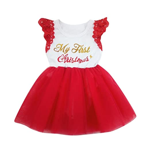 WuyiMC Xmas Dress, Newborn Baby Girl's My First Christmas Outfits Santa Hat  Tutu Romper ( - Amazon.com: WuyiMC Xmas Dress, Newborn Baby Girl's My First