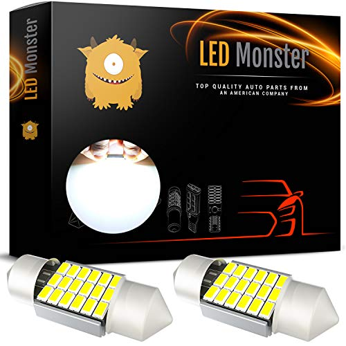 LED Monster Extremely Bright 400 Lumens 3020 Chipset Canbus Error Free LED Bulbs for Interior Car Lights License Plate Dome Map Door Courtesy 1.25