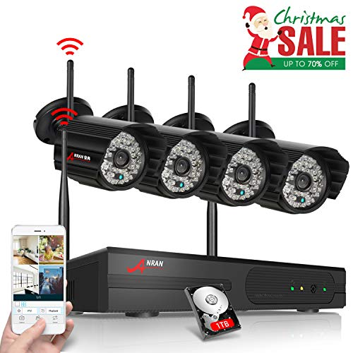 ANRAN 4CH 1080P HD NVR Wireless Security CCTV Surveillance Systems WIFI NVR Kits With Four 1.3MP 960P Wireless Indoor Outdoor IP Cameras,P2P,Free Remote View,Night Vision, 1TB Hard Drive Pre-installed Review