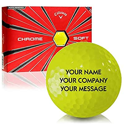 Callaway Golf Chrome Soft Yellow Personalized Golf Balls