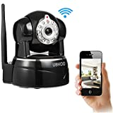 UOKOO Wireless Camera, 1280X720P WiFi Security Camera with Pan/Tilt, 2-Way Audio and Night Vision use for Pet Monitor, Puppy Cam, Baby Monitor, Nanny Camera and Wireless IP Camera(620GB)