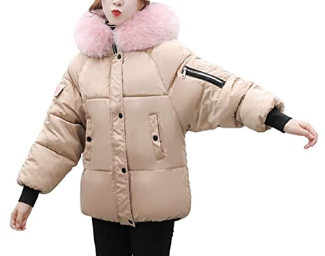 2f0ad2fe9aa Lazzboy Coat Jacket Women Puffer Quilted Faux Fur Hooded Ladies Winter Warm  UK 10-16