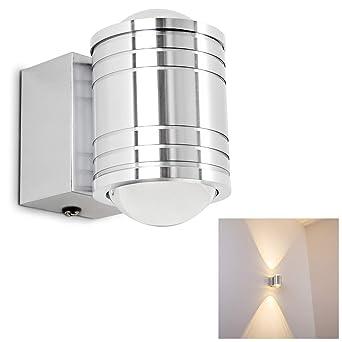 LED Wandlampe Florenz - Wand Leuchte mit 480 Lumen und 3000 Kelvin -  Wandspot IP44 auch als Badezimmer Lampe geeignet - Wandstrahler
