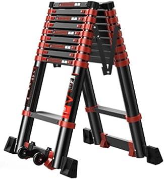 Un tipo Escalera, Industrial Heavy Duty plegable telescópico aleación de aluminio engrosamiento elevar escaleras de ingeniería (Size : 2.7m): Amazon.es: Bricolaje y herramientas