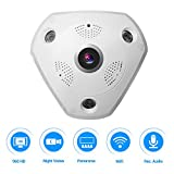 360 Panoramic Wireless IP Camera 960P Home Security Surveillance System CCTV Camera Two Way Audio Video 1.3 Megapixel WiFi Support Remote View IR Night Vision Motion Detection Super Wide Angle