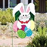Cheap Bunny Garden Flag Size: 18″ H x 12.5″ W