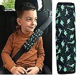 1x HECKBO Dino Dinosaur car belt protector safety belt shoulder pad shoulder cushion car seats belt pad for children boys/boys - 2.36' x 8.26'