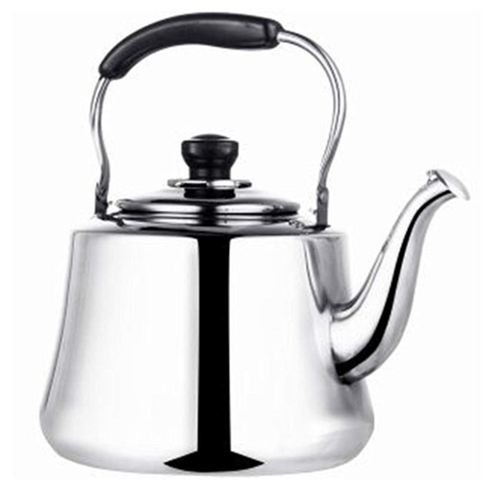 Whistling stainless steel tea kettle teapot stovetop teakettles for stove top with anti-hot handle(5 Quart)