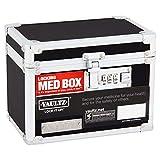 Vaultz Locking 5x7 Caja de medicina, color negro con cerradura de combinación