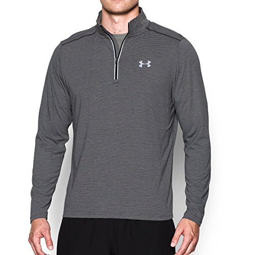 Under Armour Men's Streaker Run 1/4 Zip , Carbon Heather (090)/Reflective, Small by Under Armour (Image #4)