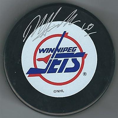 Autographed Dale Hawerchuk Winnipeg Jets Hockey Puck