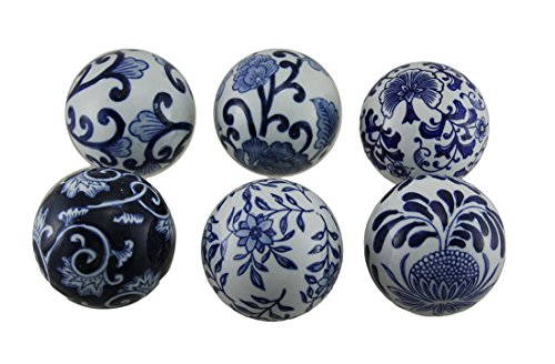 Decorative Glass Balls (A&B Home AV69831 Decorative Orbs (Set of 6))