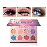 Focallure 12 Colors Pigmented Luxury Shinning Shimmer And Matte Pearl Textured Mermaid Eyeshadow Makeup Palette (wonder)