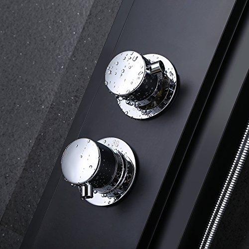 good kes sus 304 stainless steel shower panel 5function waterfall rainfall shower head