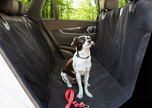 New Groundbreaking Waterproof Pet Car Seat Cover By Chipaw- TOP Quality, Durable, Hammock Style, Slip-Proof, Seat Anchors & Velcro Seat Belt Opening, Standard Size, Black- Premium Comfort For Dogs (Carrier Car Seat Cover compare prices)