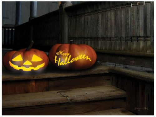 Ohio Wholesale Radiance Lighted Happy Halloween Canvas Wall Art, from our Halloween Collection -
