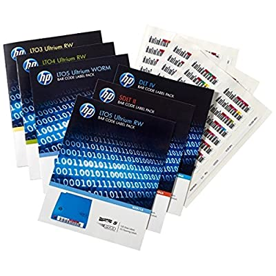 HP LTO-7 Ultrium RW Bar Code Label Pack (Q2014A) from hp