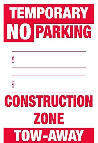 Temporary No Parking Sign,12
