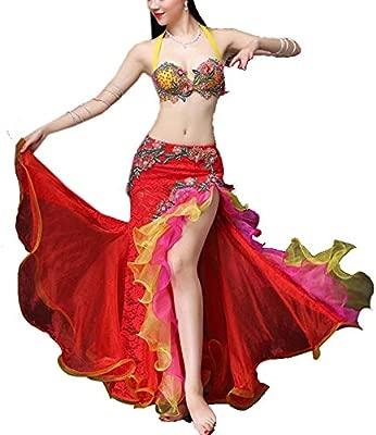 Falda de danza del vientre para mujer Vestido sin mangas ...