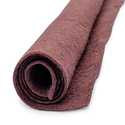 Bewitching Brown Wool Felt Oversized Sheet - 35% Wool Blend - 1 12x18 inch sheet