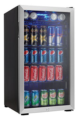 Beverage Bar - Danby 120 Can Beverage Center, Stainless Steel DBC120BLS