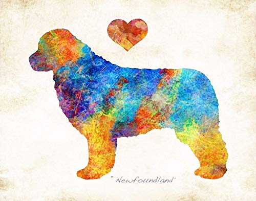 - NEWFOUNDLAND Dog Breed Watercolor Art Print by Dan Morris