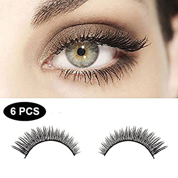 1d8a186dc6e 3D Hand-made Fake Eyelashes Women's Makeup eye Lashes Black Natural Fluffy  Long Soft 3