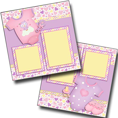 Baby Girl Gear - Premade Scrapbook Pages - EZ Layout 3802 ()