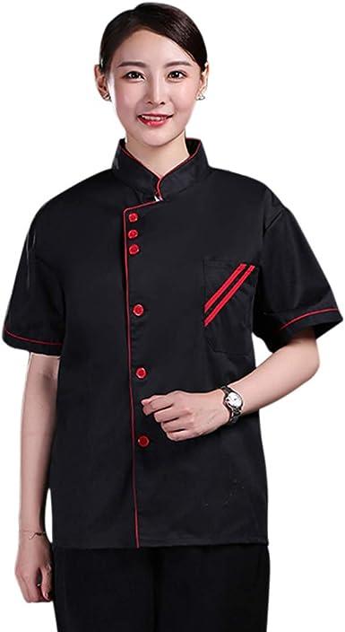 Freahap - Camisa Camiseta de Cocinero Cocina Uniforme Manga Larga Chaqueta de Chef Camarero para Hombres y Mujeres para Restaurante Hotel: Amazon.es: Ropa y accesorios