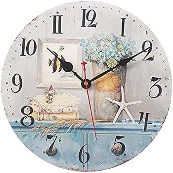 Amazon Com 12 Inch Wall Clock Non Ticking Mingsu Vintage