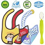 Cute Baby Waterproof Drool Bibs Pack - Best for Dribble while Feeding And Spit ups
