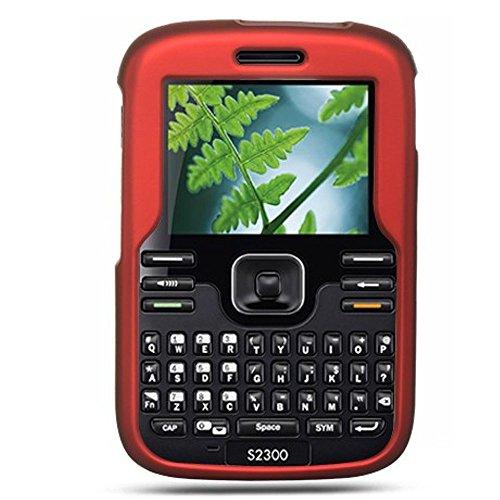 (Kyocera Torino Loft S2300 Case, Dreamwireless Rubberized Hard Snap-in Case Cover for Kyocera Torino Loft S2300, Red)