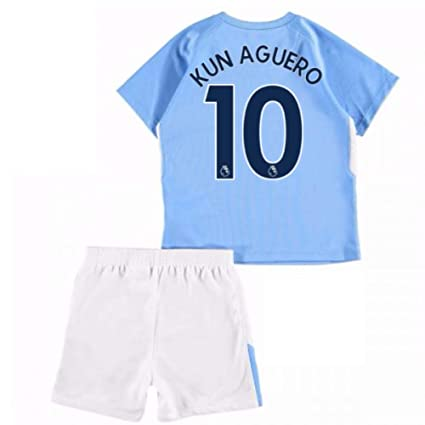 huge selection of 07b63 0cbce Amazon.com : UKSoccershop 2017-18 Man City Home Baby Kit ...