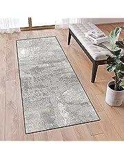 """Runner Rug, Runner Carpet for Hallway Non Slip Washable Abstract Modern Decor Green Runner Mat Bedroom Entryway Kitchen Living Rug Customizable, 1'3""""-4' Width"""