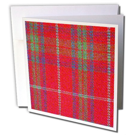 3d Rose Traditional Red Tartan - Scottish plaid - Scotlan...