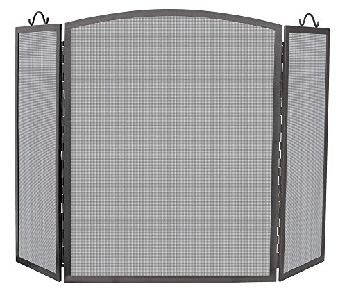 Uniflame 3 Panel Olde World Iron Arch Top Screen, ()