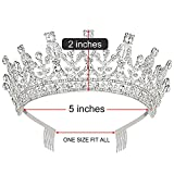Makone Queen Tiaras and Crown with Comb for Womens