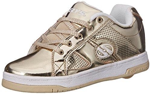 Heelys Split Chrome Skate Shoe (Toddler/Little Kid/Big Kid), Gold, 3 M US Little Kid