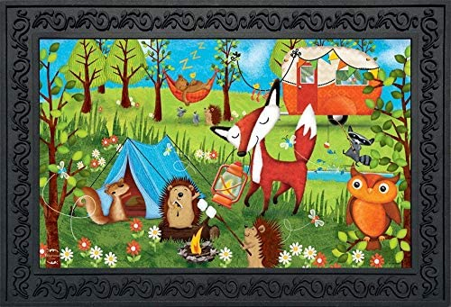 Briarwood Lane Wilderness Camp Summer Doormat Fox Tents Indoor Outdoor 18 x 30
