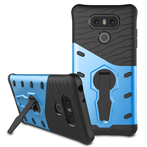 LG G6 Case, Mignova Hybrid Protective Case Shock-Absorption Drop-Protection Hard PC Shell & Soft Silicone Inner Case with Kick Stand for LG G6 Cell Phone (Blue)