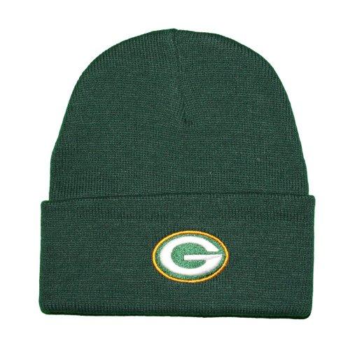- NFL Reebok Green Bay Packers Green Cuffed Beanie (OSFA)