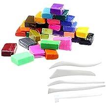 SODIAL(R)5 pcs Tools + 32 Colors clay Fimo kit
