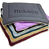 Personalized Dog Kennel Mat - Large or Small Pad - Cute Washable Bed Cushion - Cats or Dogs (Large)